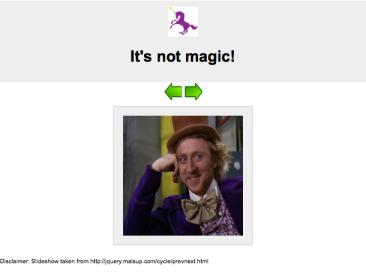 No magic here!